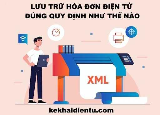 Lưu trữ định dạng chuẩn hóa đơn điện tử - XML
